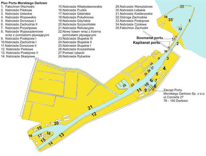 Mapa Portu Morskiego Darlowo Darlowo Info Noclegi Imprezy Kamery